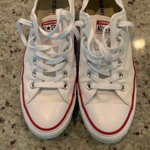 Women's size 9 white Converse